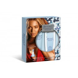 SET Beyonce SHIMMERING HEAT PARFUM DEODORANT NATURAL SPRAY 75ml+BODY LOTION 75ml